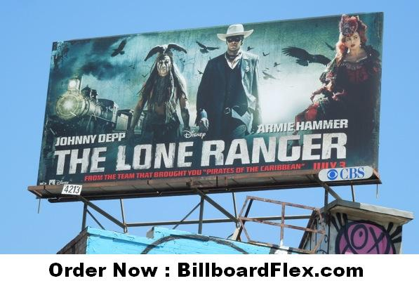 The lone ranger movie billboard 2013